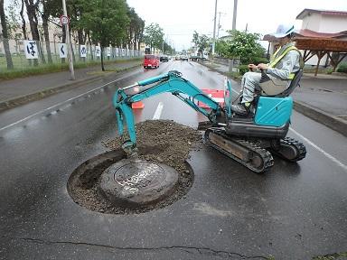 施工中 掘削状況